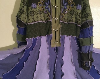 Upcycled Wool Sweater Coat Inspired by Katwise Dream Coat