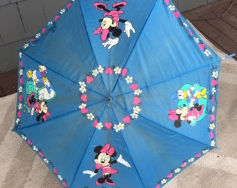 Vintage Minnie Mouse Daffy Duck Kid Size Umbrella