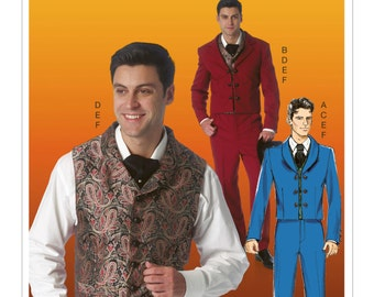 McCall's M7216 Men's Historical Jackets, Vests, Pants and Cravat Costume Sewing Pattern