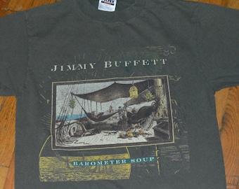 1995 JIMMY BUFFETT vintage concert tour band tee rare original rock music t-shirt (M) Medium Margaritaville tee tshirt 90s 1990s