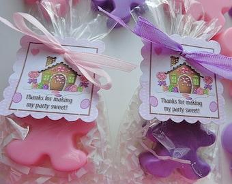 10 Candyland Gingerbread Man Soap Favors, Children, Birthday Parties, School Parties, Sweetheart Parties