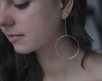 SILVER HOOP EARRINGS Fine jewelry by jac and hugo in silver and gold