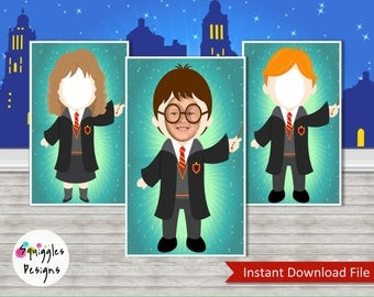Harry Potter Photo Booth Props (includes Harry, Hermione & Ron) - Digital Files