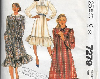 Vtg McCall's 7279 Size 14 Bust 36 Misses' Dress Sewing Pattern 1980 Uncut