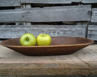 Black walnut wood bowl - Hand carved wood bowl - Rustic wood bowl - Wood fruit bowl - Wood bowl - Wooden bowl - Carved wood bowl - Gifts
