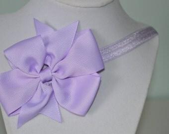 Purple Elastic Infant Headband