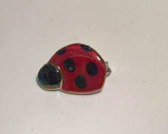 Tiny lady bug pin