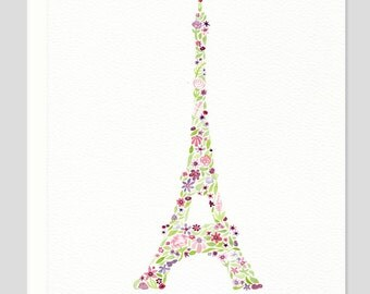 Eiffel Tower Merci Thank You Card