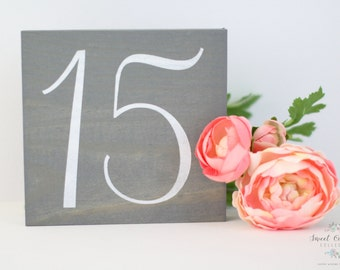 Rustic Wooden Wedding Table Numbers, Table Number Wedding, Rustic Table Number - Single Wedding Table Number - TB-11