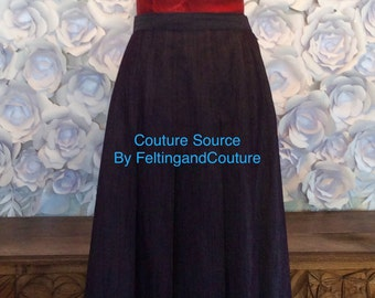 Couture Denim skirt in violet from Couture Source