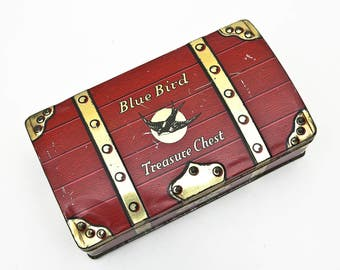 British Vintage BLUE BIRD Confectionary 'Treasure Chest' Toffee / Sweets Tin
