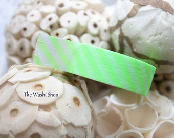 MT Neon Green Diagonal Stripe Washi Tape
