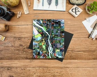 Abstract Map Print of Portland OR