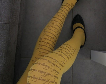 Pride and Prejudice Tights,  Jane Austen, Poetry  Tights, Text tights, Poem Tights