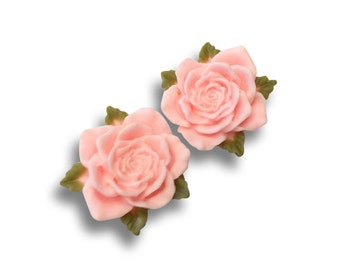 Baby Pink Vintage Rose Ear Plugs