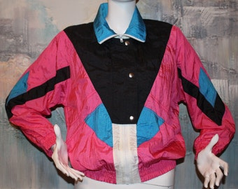 Vintage 1980's Westside Connection Jacket Multicolor Windbreaker Size S