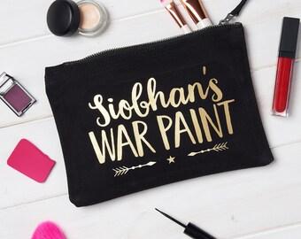 Personalised War Paint Makeup Bag