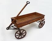 Child's American Wood Wagon Sherwood Spring Coaster - 1920's, USA