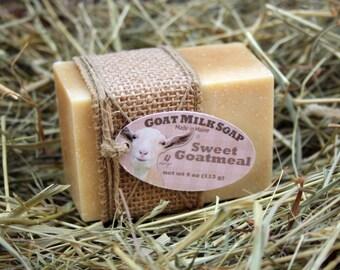 Sweet Goatmeal Goat Milk Soap. Honey Oatmeal Goat Milk Soap. Honey Goat Milk Soap. Oatmeal Goat Milk Soap.