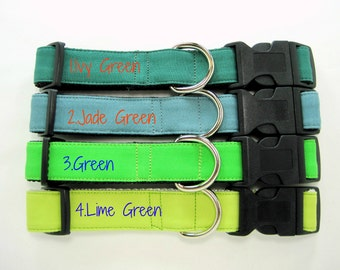 Green Dog Collar,Lime Green Dog Collar ,Jade Green Dog Collar ,Ivy Green Dog Collar