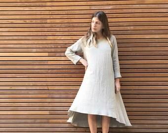 Asymmetrical Dress, Loose Dress, Waterfall Dress, Casual Dresses, Boho Chic Dress, Casual Fashion, Bohemian Style, Bohemian Dress