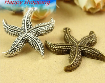 15pcs Starfish Charms Vintage Alloy Sea Charm Pendants Jewelry Findings Supplies