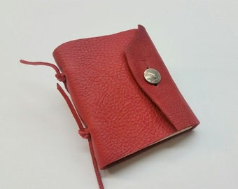 Red Leather Journal with Buffalo Nickel Closure, Red leather Travel Journal, Southwestern Leather Journal, Western Leather Journal,