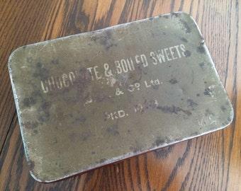 WW2 ARMY TIN  - Chocolate & Boiled Sweets Ration Tin - WW2 Tin October 1943