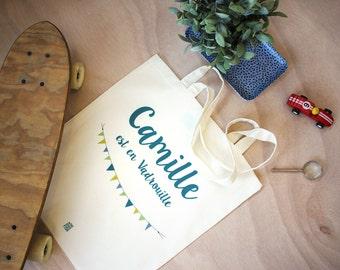 Personalized tote bag, canvas bag, tote bag, Kids Name Tote, Changing Bag, nappy bag, shopping bag, handbag, Toddler bags