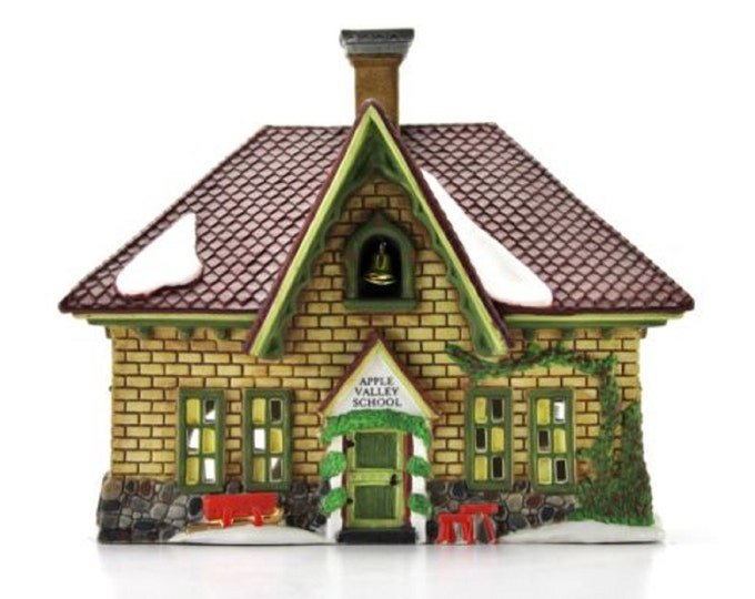 Department 56 New England Village Series Apple Valley School Christmas, Holiday Decor, Christmas Decor, Village Houses, Gift For Christmas