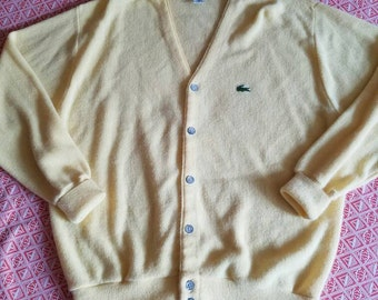 Butter Yellow Izod Lacoste Cardigan