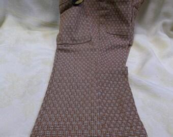 1/2 OFF!!! Vintage 1970's MANN Boy's Casual Plaid Slacks, T