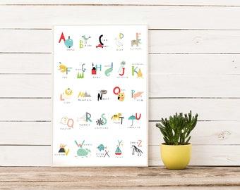 Fun Alphabet Printable, Nursery Alphabet Printable