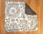 Gender Neutral Baby Blanket, Gray Baby Blanket, Chic Baby Blanket by BizyBelle **Ready to Ship