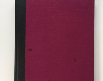 Maroon blank watercolor sketchbook