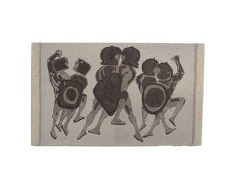 Warriors Tapestry by Elisabeth Frink Mid Century Modern