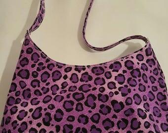 Natt tote handbag - purple Leopard print
