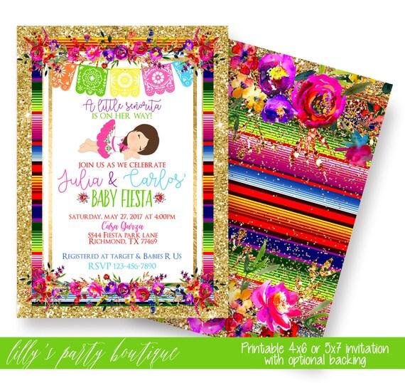 fiesta baby shower invitation mexican fiesta baby shower invite