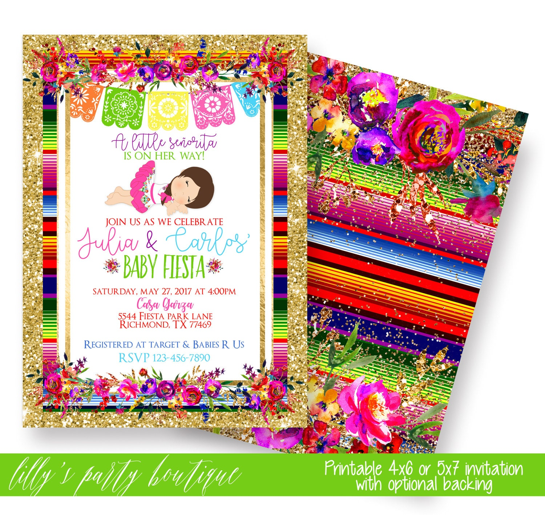 fiesta baby shower invitation mexican fiesta baby shower