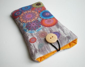 Cell phone case, Iphone case, iPhone 7, Galaxy S7, Huawei P9 lite, Galaxy sleeve, iPhone sleeve, Huawei case, Moto G 4 sleeve, Mandala