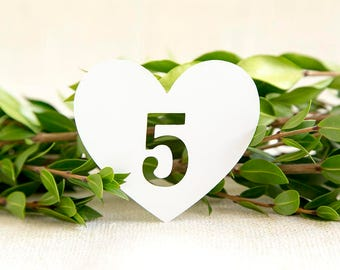 Heart Wedding Table Numbers, Rustic Wedding, Wedding Decoration, Reception Sign, Wedding Sign, Paper cut, Wedding Table Decor