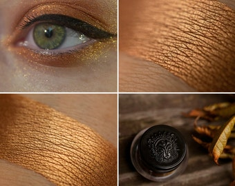 Eyeshadow: Showing Battle Trophies - Nomad. Copper metallic eyeshadow by SIGIL inspired.