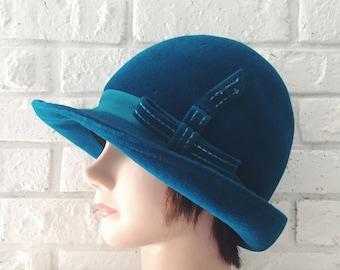 Vintage Wool Cloche Hat