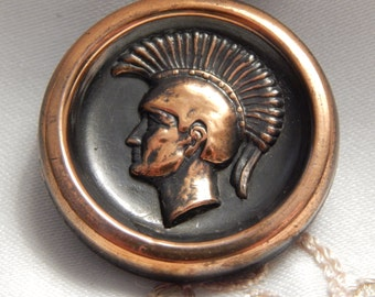 Soldier Profile Large Button with Copper Finish