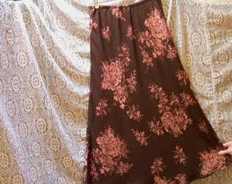 Two Layer Reversible Bias Cut Skirt - 2 In 1 - Size M/L - Red Dirt Girl - 304