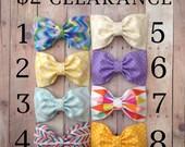 Sale bows baby headband hair bows colorful rainbow anchors