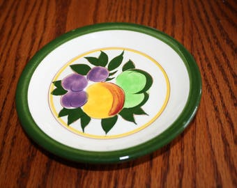Mid Century Stangl Pottery Small Plate- Fruit Pattern