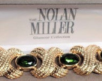 BOLD Nolan Miller Bracelet - Gold Plated with Simulated Emeralds - S2052
