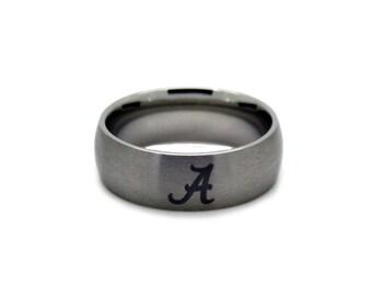 Alabama Jewelry - Crimson Tide Wedding Band - CUSTOM Officially Licensed Collegiate Rings - Michigan, Tar Heels, Auburn & more!