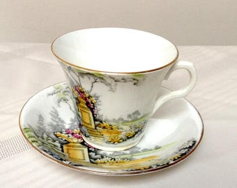 Melba Bone China Made in England Cup and Saucer
